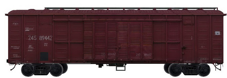 rail freight transportation in roof wagons