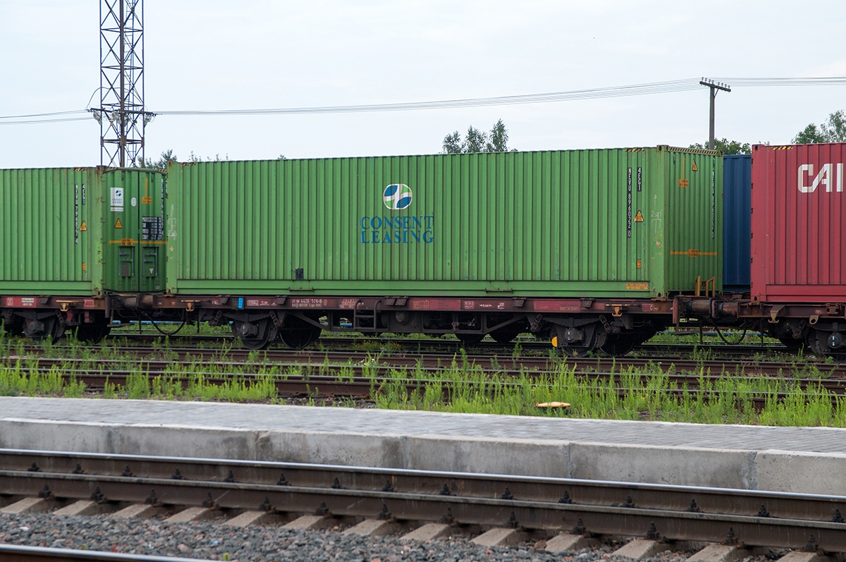 freight transport by railroad platforms
