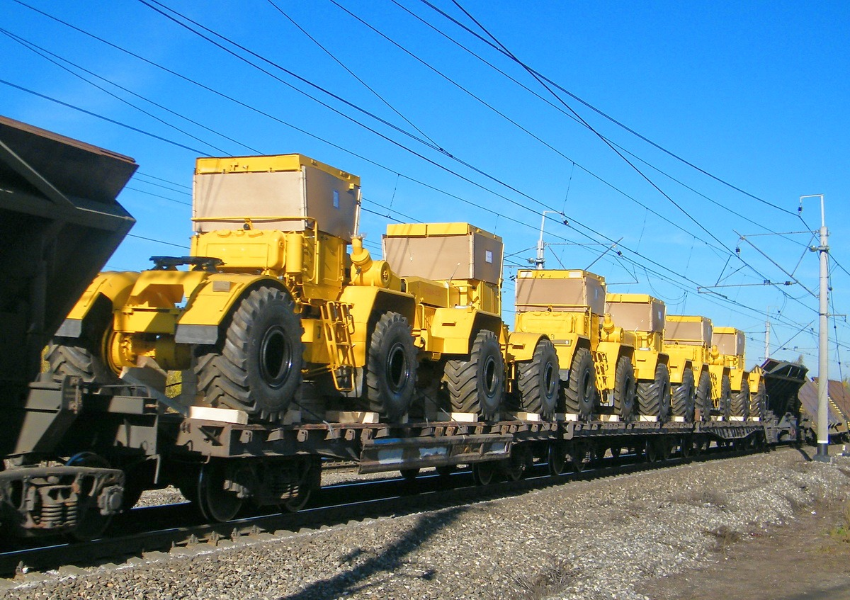 Machines project transportation by railway transport